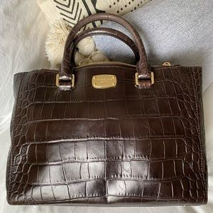 Michael Kors brown textures handbag